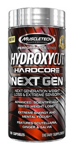 hydroxycut hardcore next gen x 100 cápsulas - muscletech