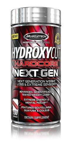 hydroxycut hardcore  next gen100 capsulas quemador de grasa