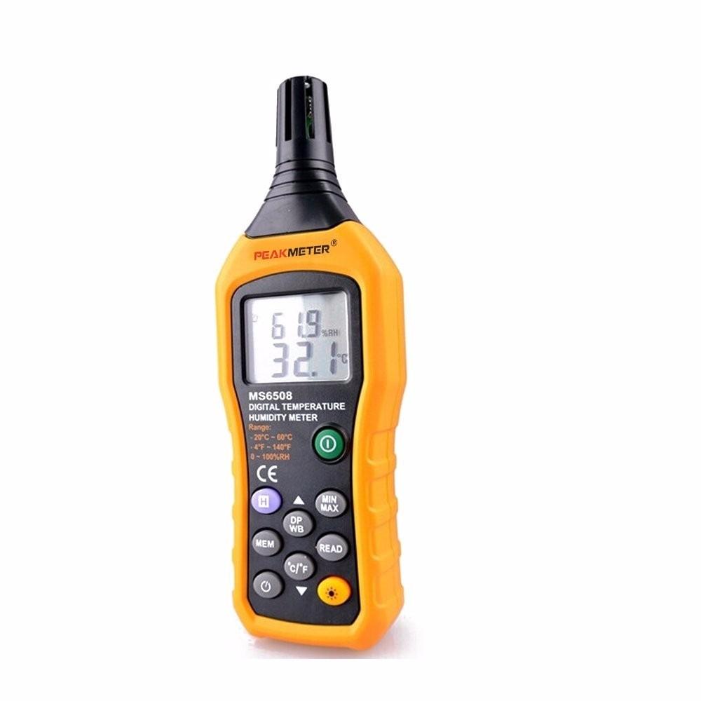 Hyelec ms6508 medidor digital de humedad de temperatura for Medidor de temperatura y humedad digital