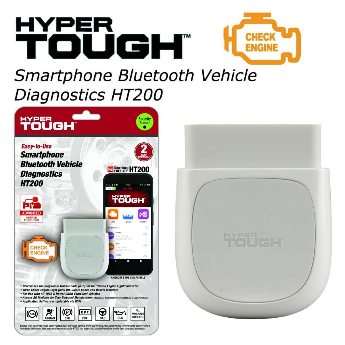 Hyper Tough Herramienta De Escaneo Bluetooth Autel Ht200