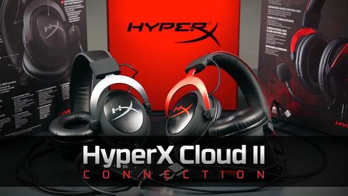 hyper x cloud 2 rosa preto cinza headset fone-pronta entrega