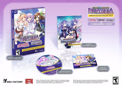 hyperdimension neptunia limited edition trilogy pack - pc