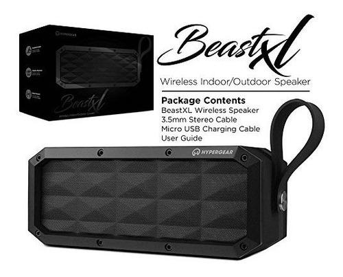 hypergear beast xl, portatil, robusto, ipx6, impermeable, re