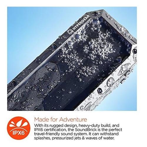 hypergear beast xl rugoso portatil ipx6 resistente al agua r