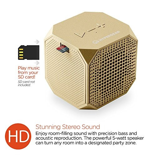 hypergear sound cube altavoz bluetooth inalambrico portatil
