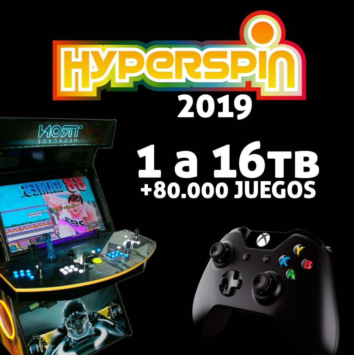 Hyperspin Arcade 2019 Pc 16tb +90 000 Juegos +400 Sistemas