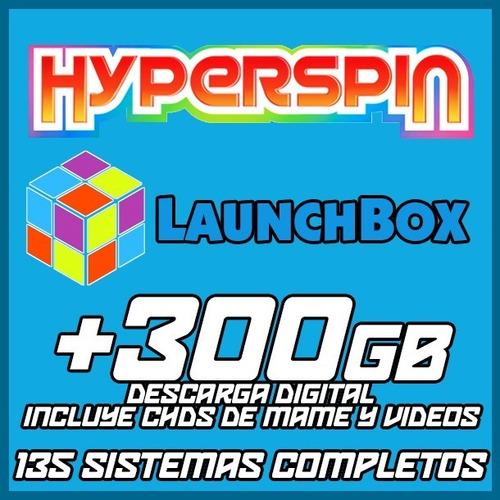 hyperspin / launchbox / +130 sistemas / descarga +300gb