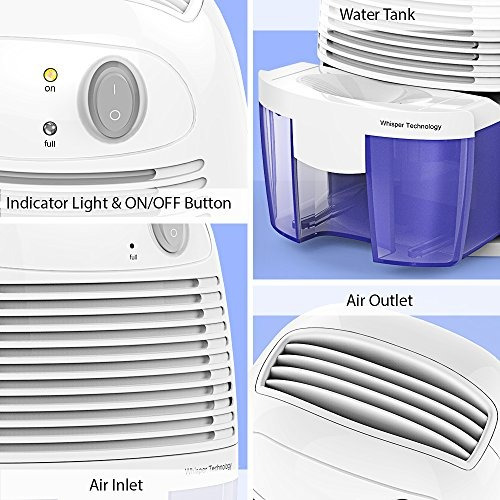 hysure portátil mini deshumidificador purificador de aire de