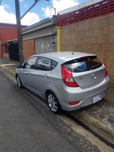 hyundai accent blue hatchback