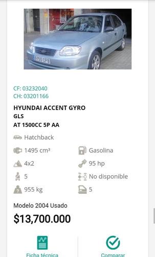 hyundai accent gyro gls automatico 2004