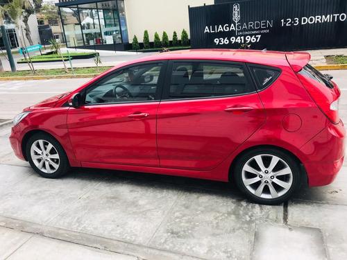 hyundai accent hatchback automático motor 1.4 2013 rojo full