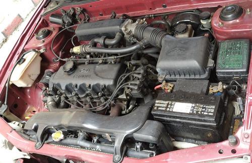 hyundai accent l motor 1.3 1998 cereza 4 puertas