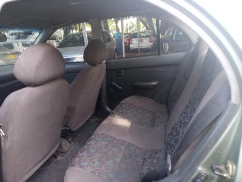 hyundai accent ls motor 1.3 2002 gris laguna 4 puertas