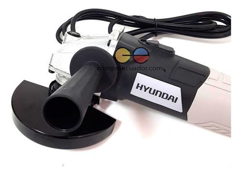 hyundai amoladora angular 600w diámetro disco 115mm + llave