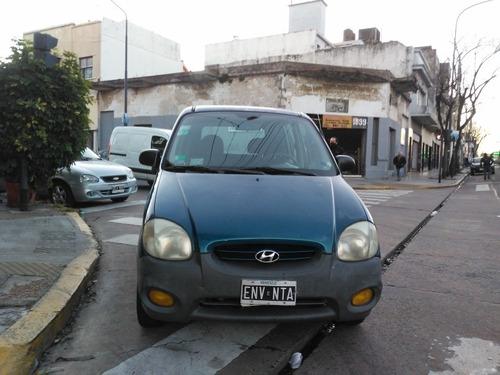 hyundai atos 1.1 gls aa  2001    azul