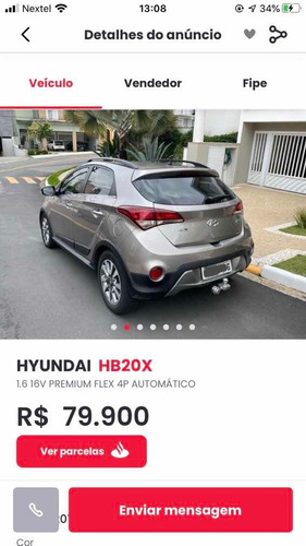 hyundai hb20 2017 1.6 premium flex aut. 5p