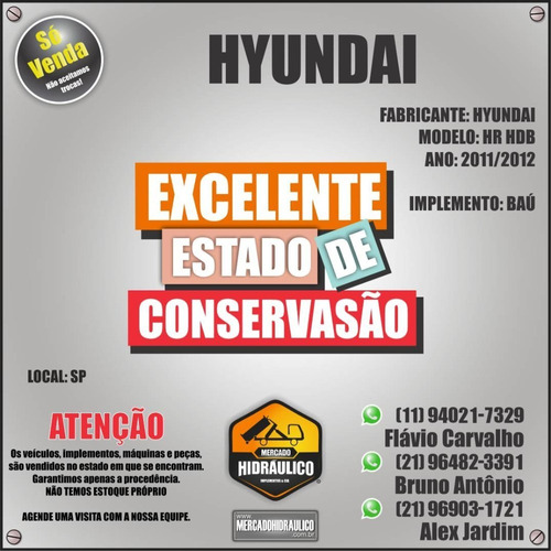 hyundai hr hdb / 2012 - baú