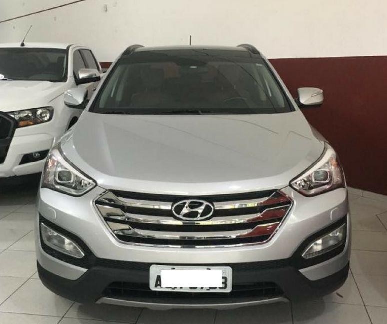 Hyundai Santa Fe 2014 Prata Gasolina