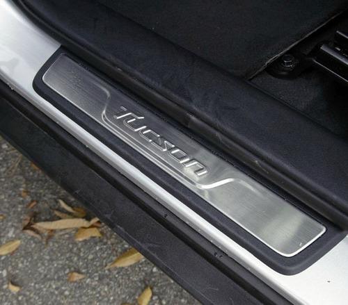 hyundai tucson ix35 pisa pies de lujo en aluminio  genuinos