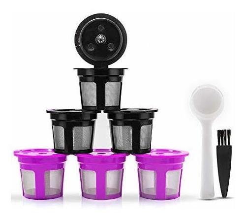 i cafilas 6 filtros de capsulas de cafe reutilizables k para