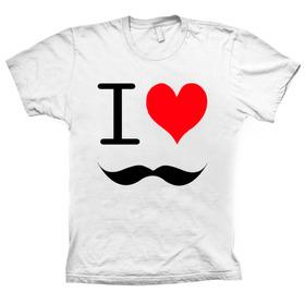 I Love Bigodinho Camiseta - C30 Original