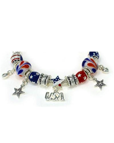 i love usa theme bandera americana pulsera inspirada en tono