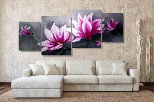 i n c r e i b l e  cuadros triptico florales modernos