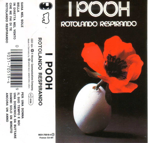 i pooh rotolando respirando cassette warner 1977 pvl