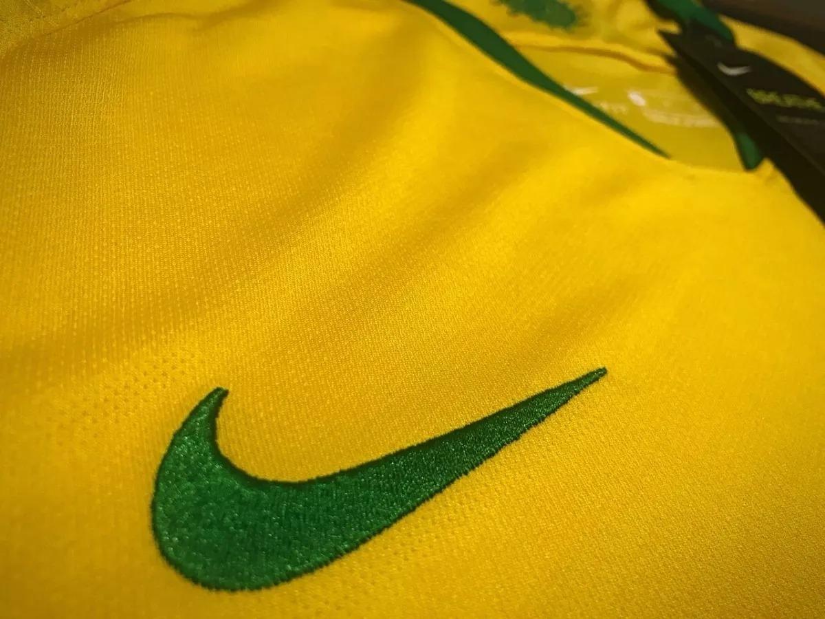 i uniforme camisa da seleção brasileira brasil mundial 2018. Carregando zoom . f1e941936403f