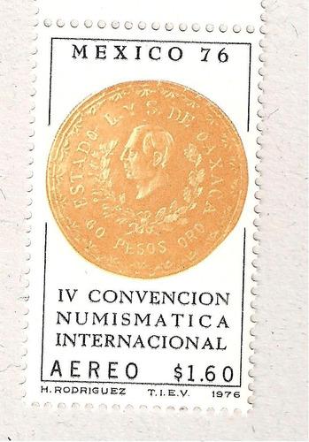 i v convención numismatica internacional. moneda  1976