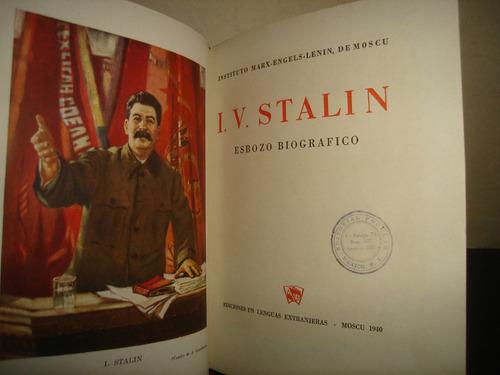 i. v. stalin, esbozo biográfico - 1940