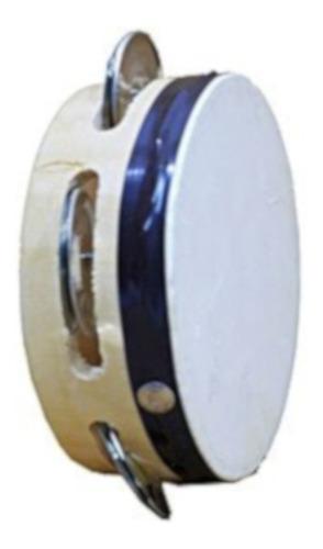 i030 pandero número 5 infantil sencillo madera cuero 11 cm