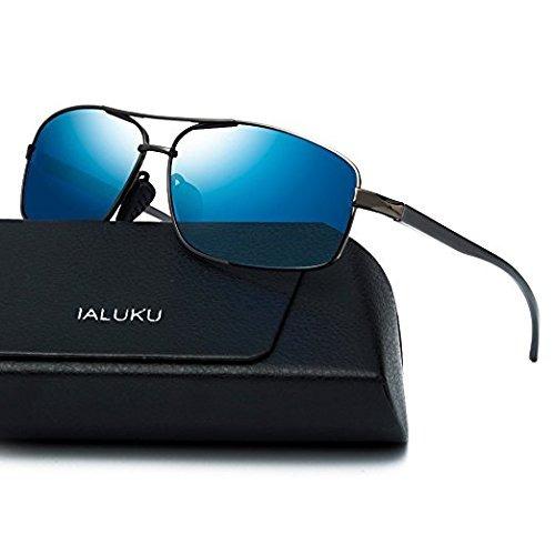 1454f8f944 Ialuku Gafas De Sol Polarizadas Rectangulares Para Hombre G - $ 1,380.80 en  Mercado Libre