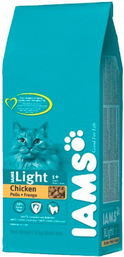 iams gato light x 3 kg   solo envios.