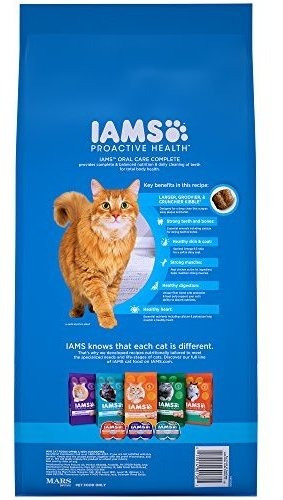 iams proactive health adult oral care dry cat food, chicken