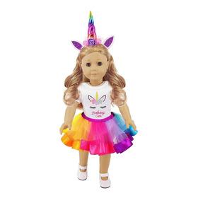 Ibayda 3pc / Set Unicorn Doll Clothes Incluye Mamelucos, Dia