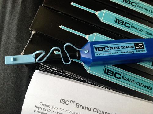 ibc plumas limpia conectores fibra óptica conec lc no exfo