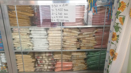 iberia cortina de 1,50 x 2,40 de asas raso estampado