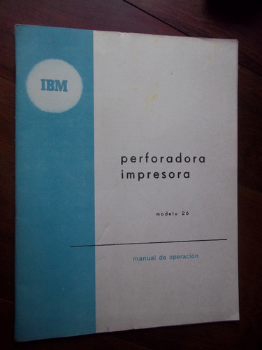 ibm 26 antiguo manual perforadora impresora en la plata