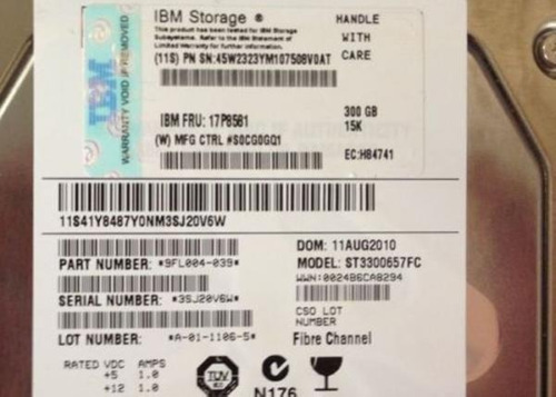ibm 300gb fc 4gb 15k lff hdd for ds6000/ds8000 sem gaveta