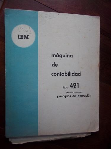 ibm 421 antiguo manual maquina de contabilidad en la plata