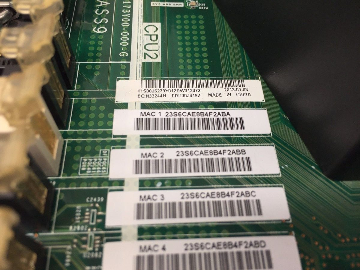 Ibm X3550 M4 System Board 00j6192 Mainboard 00y8375 Nueva