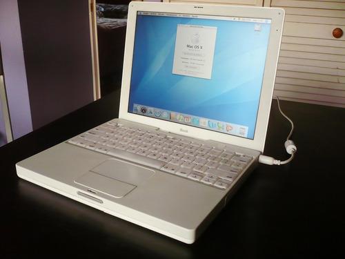 ibook g3 800mhz, wi-fi, batería 4hrs, grabador de dvd