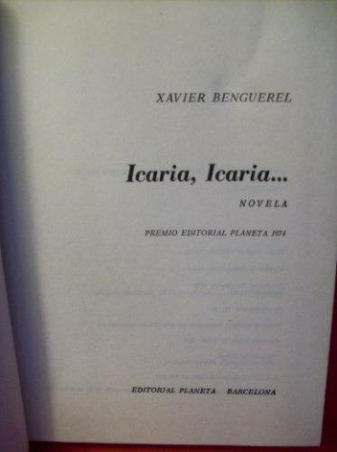 icaria, icaria xavier benguerel editora planeta premio 1974