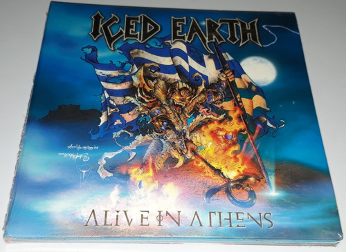 iced earth - alive in athens (3cd) (paper sleeve) lacrado