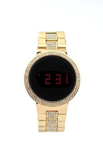 c6dbea196510 Iced Out Bling Unisex - Reloj Metálico Con Pantalla Táctil L ...
