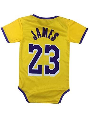 best sneakers 7cd96 7e912 Icer Brand James Basketball Baby Romper Jersey Lebron Infant