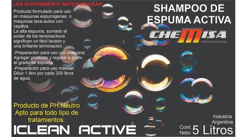 iclean active shampoo de espuma activa (ideal lavadero)