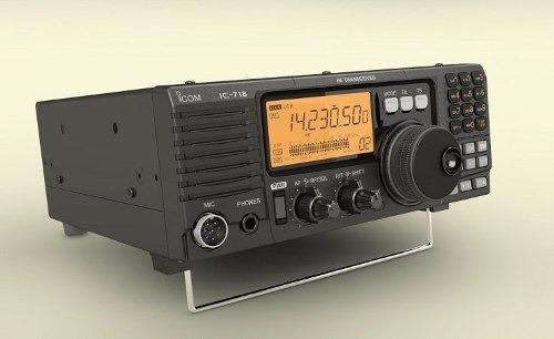 icom ic-718 hf transceptor de rádio marítimo barco 100 watt
