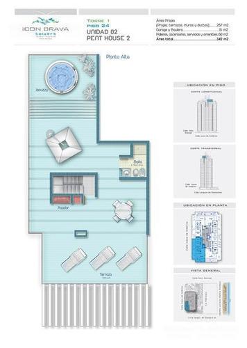 icon brava, imponente pent-house duplex